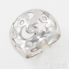 Bague Boule Or Blanc Diamant