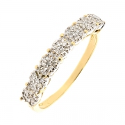 Demi-alliance diamants 0.24 carat en or bicolore