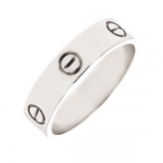 Alliance signée CARTIER en or blanc 7.29 grs