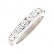Demi-alliance diamants 0.77 carat en or blanc