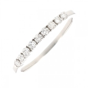 Demi-alliance diamants 0.25 carat en or blanc