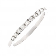 Demi-alliance diamants 0.17 carat en or blanc