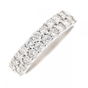 Demi-alliance diamants 0.97 carat en or blanc