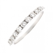 Demi-alliance diamants 0.30 carat en or blanc