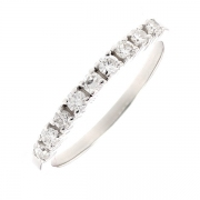 Demi-alliance diamants 0.35 carat en or blanc