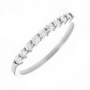 Alliance diamants 0.24 carat en or blanc