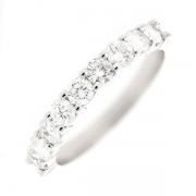 Demi-alliance diamants 0.65 carat en or blanc
