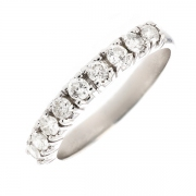 Demi-alliance diamants 0.58 carat en or blanc