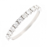 Demi-alliance diamants 0.44 carat en or blanc
