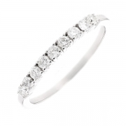 Demi-alliance diamants 0.34 carat en or blanc