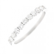 Demi-alliance diamants 0.28 carat en or blanc
