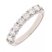 Alliance diamants 0.86 carat en or blanc