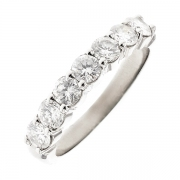 Alliance diamants 1.15 carat en or blanc