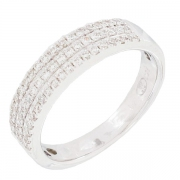 Demi-alliance diamants 0,40 carat en or blanc