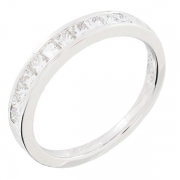 Demi-alliance diamants 0,57 carat en or blanc