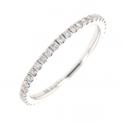 Alliance tour complet diamants 0.39 carat en or blanc