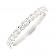 Demi-alliance diamants 0.52 carat en or blanc