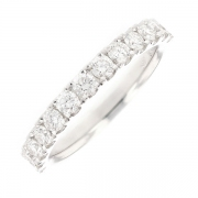 Demi-alliance diamants 0.75 carat en or blanc