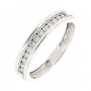 Demi-alliance diamants 0.26 carat en or blanc