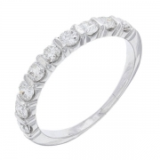 Demi-alliance diamants 0,99 carat en or blanc