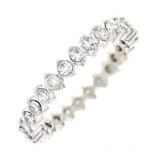 Alliance tour complet diamants 1.30 carat en or blanc
