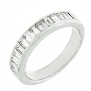 Demi-alliance diamants baguettes 0,70 carat en or blanc