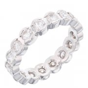 Alliance tout complet diamants 1,19 carat en or blanc