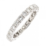 Alliance tour complet diamants 1.98 carat en or blanc