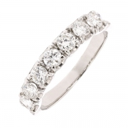 Demi-alliance diamants 1,05 carat en or blanc