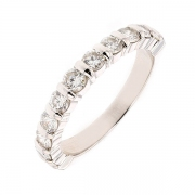 Demi-alliance diamants 1 carat en or blanc