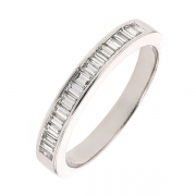 Demi-alliance diamants 0.50 carat en or blanc