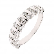 Demi-alliance diamants 1,40 carat en or blanc