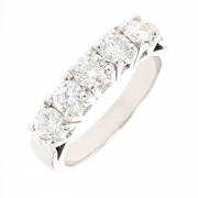 Demi-alliance diamants 0.85 carat en or blanc