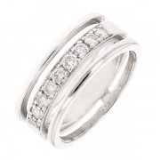 Alliance diamants 0.54 carat en or blanc