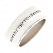Alliance ruban diamants 0.43 carat en or blanc