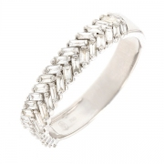 Alliance diamants baguettes 1.14 carat en or blanc