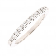 Demi-alliance diamants 0.16 carat en or blanc