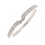 Demi-alliance diamants 0.23 carat en or blanc