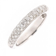 Demi-alliance diamants 0.80 carat en or blanc