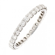 Alliance tour complet diamants 1.45 carat en or blanc