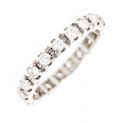 Alliance tour complet diamants 1.14 carat en or blanc