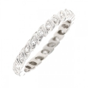 Alliance tour complet diamants 0.46 carat en or blanc