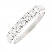 Demi-alliance diamants 0.56 carat en or blanc