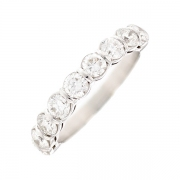 Demi-alliance diamants 1.44 carat en or blanc