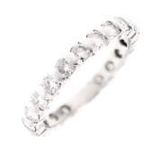 Alliance tour complet diamants 1.78 carat en or blanc