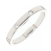Alliance tour complet diamants 0.20 carat en or blanc