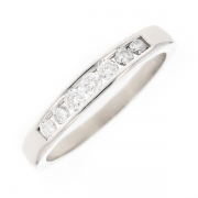 Demi-alliance diamants 0.42 carat en or blanc