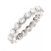 Alliance tour complet diamants 1.26 carat en or blanc