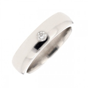 Alliance diamant 0.07 carat en or blanc