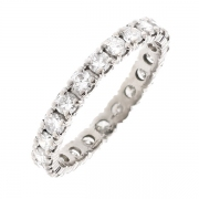 Alliance tour complet diamants 1.32 carat en or blanc